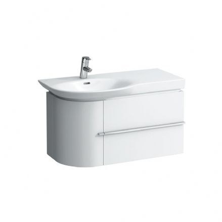 816702 - Laufen Palace 900mm x 460mm Countertop Washbasin (Right Shelf) & Vanity Unit (2D)- 8.1670.2